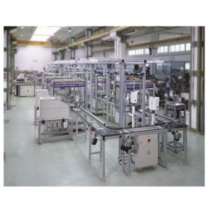 AUTOMOBILE BATTERY BOX COMPONENTS ASSEMBLY LINE